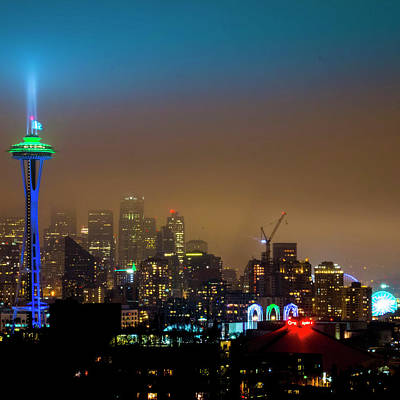 Seahawks Space Needle Poster