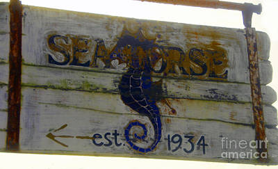 Seahorse Est. 1934 Poster by David Lee Thompson