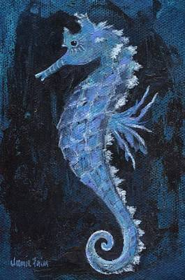 Poster featuring the painting Seahorse by Jamie Frier