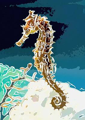 Seahorse Poster by Lanjee Chee