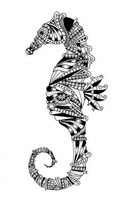 Seahorse Tangle Poster by Drew Normandin
