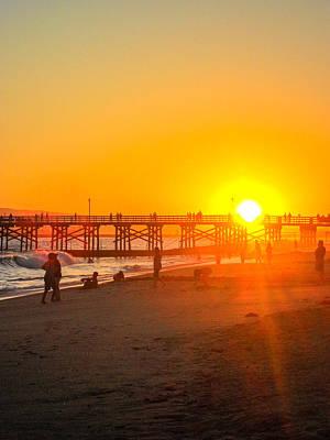 Seal Beach Pier Sunset Poster