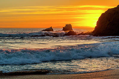 Seal Rock Sunset Poster by Kelley King