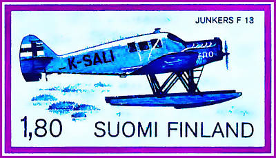 Seaplane Junkers F13  Poster