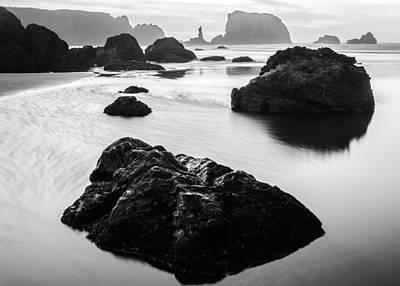 Seascape Bandon Oregon Poster by Wayne Bressler