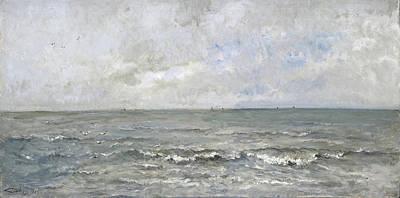 Seascape Poster by Charles-Francois Daubigny