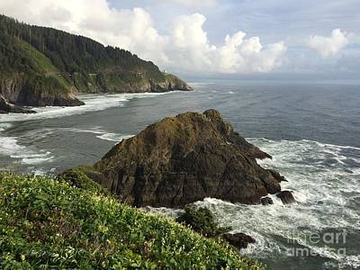 Seascape From Heceta Head Poster