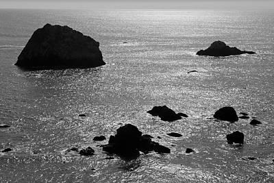 Seascape Jenner California II Bw Poster by David Gordon