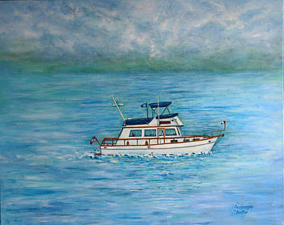 Poster featuring the painting Seascape by Lynn Buettner