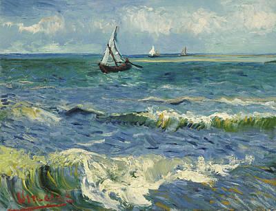 Seascape Near Les Saintes Maries De La Mer Poster by Vincent van Gogh