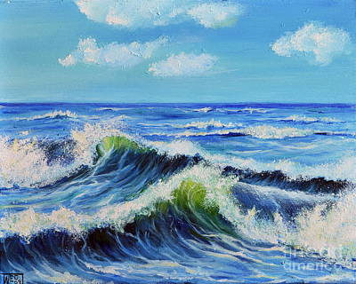 Poster featuring the painting Seascape No.3 by Teresa Wegrzyn