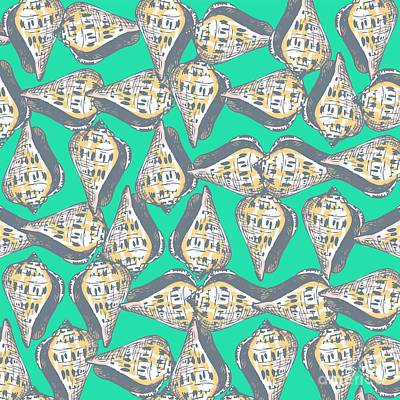 Seashells Pattern Poster by Gaspar Avila