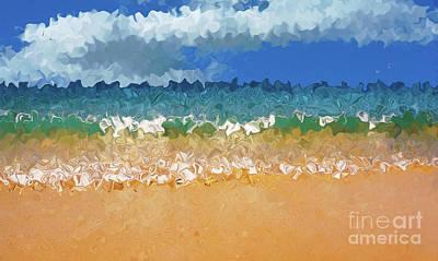 Seashore Abstract By Kaye Menner Poster