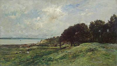 Seashore At Villerville Poster by Charles-Francois Daubigny