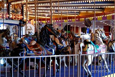 Seaside Heights Carousel Poster by Kathy Flugrath Hicks