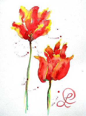 Season's First Tulips Poster by Lynda Cookson