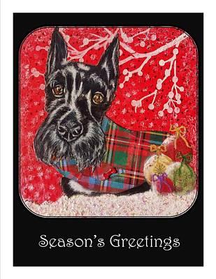 Season's Greeting Poster by Janet Chwieseni