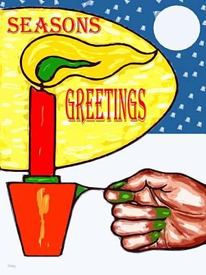 Seasons Greetings 74 Poster by Patrick J Murphy