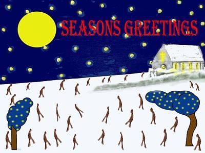Seasons Greetings 80 Poster by Patrick J Murphy