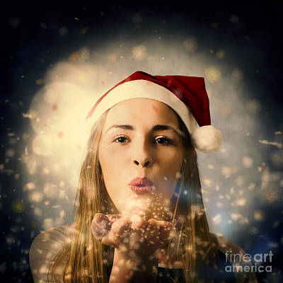 Seasons Greetings Girl Poster by Jorgo Photography - Wall Art Gallery