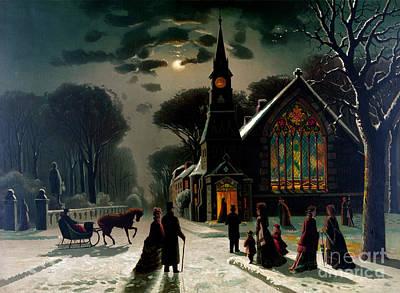 Seasons Greetings, Happy Holidays, 1878 Poster