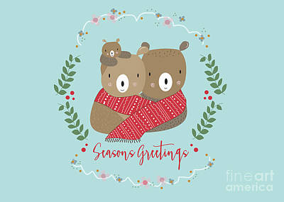 Seasons Greetings Poster by Kathrin Legg