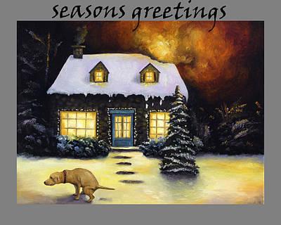 Seasons Greetings Poster by Leah Saulnier The Painting Maniac