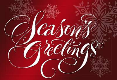 Seasons Greetings Lettering Poster by Gillham Studios