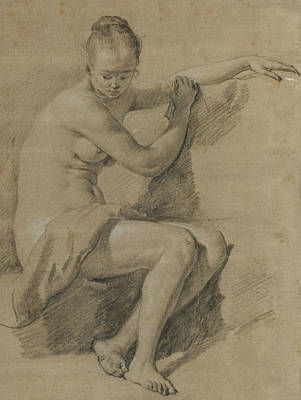 Seated Female Nude Poster by Adriaen van de Velde