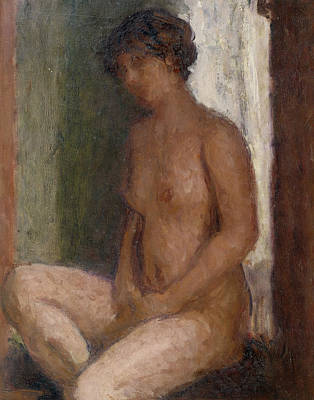 Seated Nude Against The Light Poster by Roderic OConor