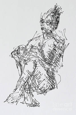 Seated Woman With Legs Crossed Poster