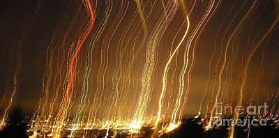 Seattle Burning At Night Poster