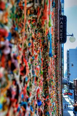 Seattle Gum Wall Poster by Spencer McDonald
