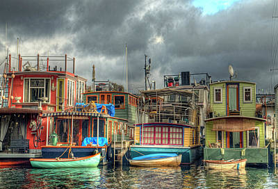 Seattle Houseboats Fine Art Photograph Poster