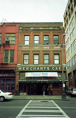 Seattle - Merchants Cafe Poster by Frank Romeo