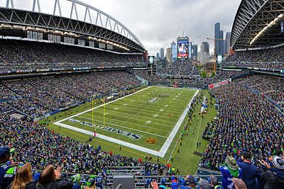 Seattle Seahawks Centurylink Field Poster by Mark Whitt