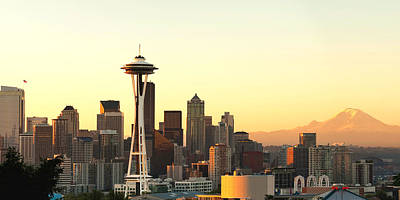 Seattle Skyline From Kerry Park Poster by Alvin Kroon