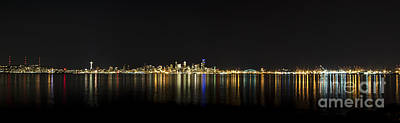 Seattle Washington Skyline From Alki Seacrest Park At 10mm Poster by Patrick Fennell
