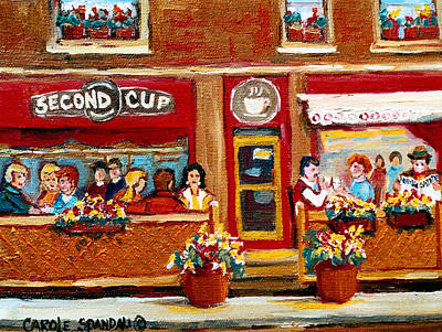 Second Cup Coffee Shop Poster