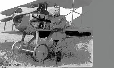 Second Lieutenant Frank Luke With His  Spad S.xiii On September 19, 1918 Somewhere In France-2016  Poster
