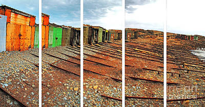 Poster featuring the photograph Second Valley Boat Sheds by Stephen Mitchell