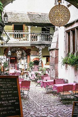 Secret Cafe In Riquewihr France Poster