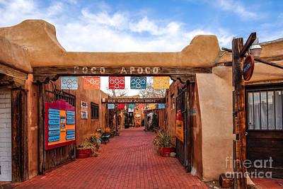 Secret Passageway At Old Town Albuquerque - New Mexico Poster