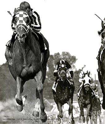 Secretariat, 1973 Kentucky Derby, Record Time Of 1 59 2 5ths Poster
