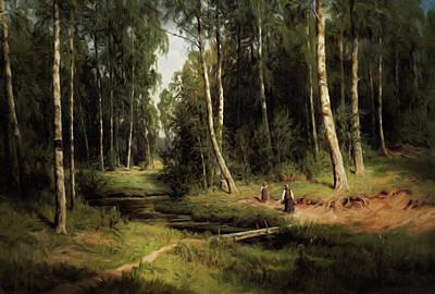 Secrets Of A Birch Forest Poster