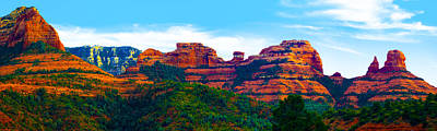 Sedona Arizona Red Rock Poster by Jill Reger