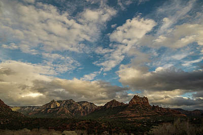 Poster featuring the photograph Sedona Arizona Redrock Country Landscape Fx1 by David Haskett