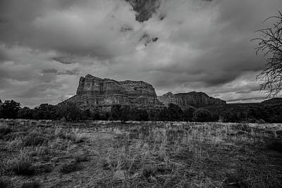 Poster featuring the photograph Sedona Red Rock Country Arizona Bnw 0177 by David Haskett