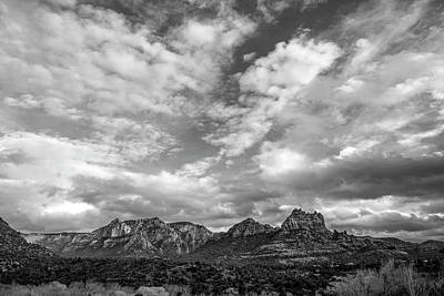 Poster featuring the photograph Sedona Red Rock Country Bnw Arizona Landscape 0986 by David Haskett