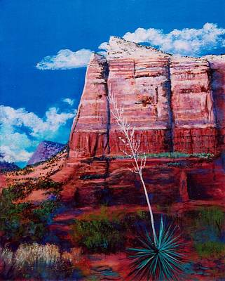 Poster featuring the painting Sedona Red Rock by M Diane Bonaparte